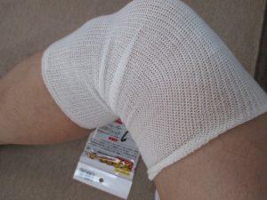 膝サポーター③ネット状で薄くしめつけない