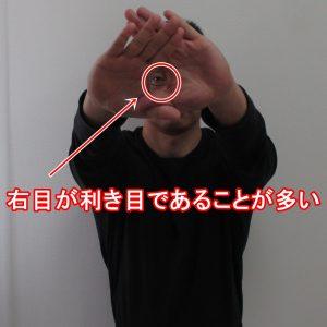 右目が利き目であることが多い