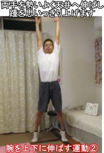 腕を上下に伸ばす運動②