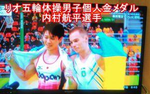 リオ五輪体操男子個人金メダル内村航平選手