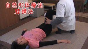 自然形体療法とう整体術の中に足首をもって井戸水をくみ上げる昔のポンプのように、膝を曲げ伸ばししながら調整するテクニックがあります。座骨神経痛では膝裏がしびれたりすることが多いですが、太ももの筋肉が緊張しているので太ももを全体に触っていきながら、膝の曲げ伸ばしも行うことで緊張と緩和の刺激を同時に送っていくことできます。オスグットシュラッダーなどの膝の成長痛にも効果的な操法です。