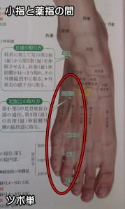 小指と薬指の間のツボ