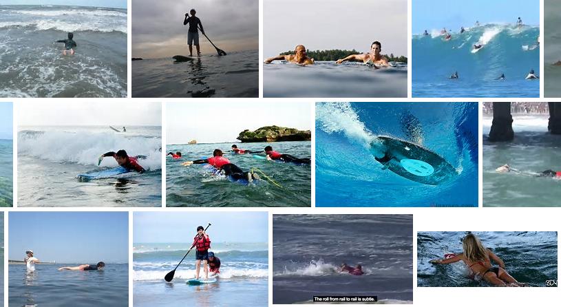 パドリングサーフィン