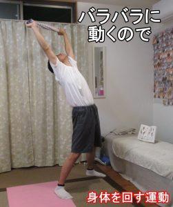 身体を回す運動