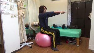 バランスボールとタイカンストリームで体幹筋骨盤底筋群や内臓を鍛える