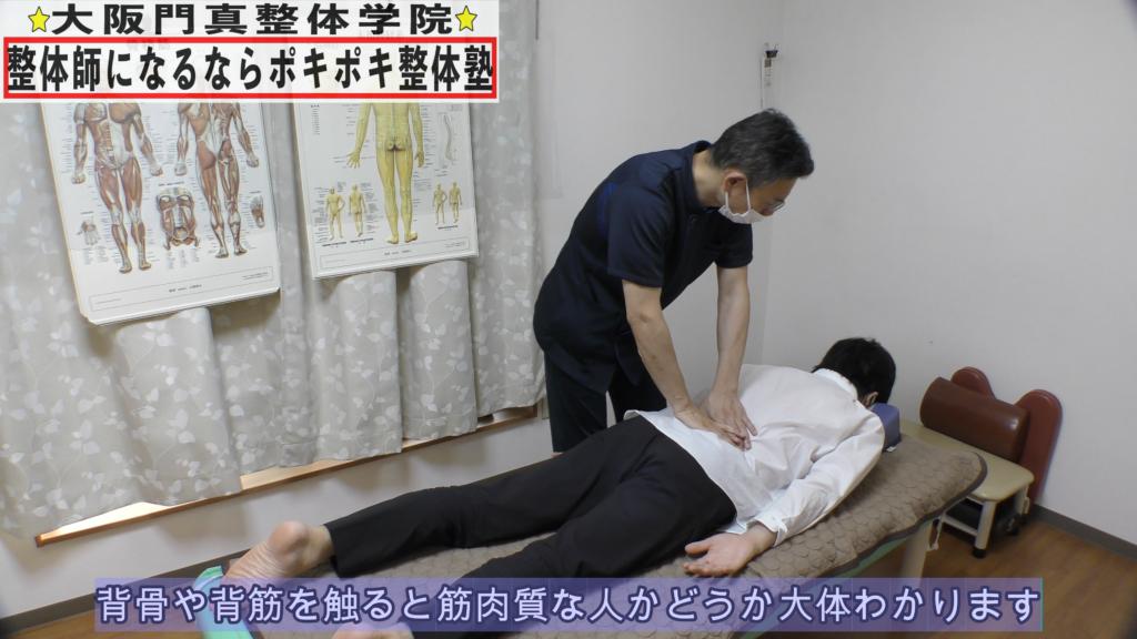 背骨や背筋を触ると筋肉質な人かどうか大体わかります
